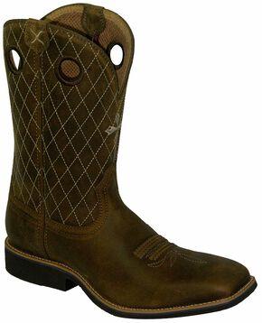 Twisted X Joe Beaver Cowboy Boots - Square Toe, Brown, hi-res