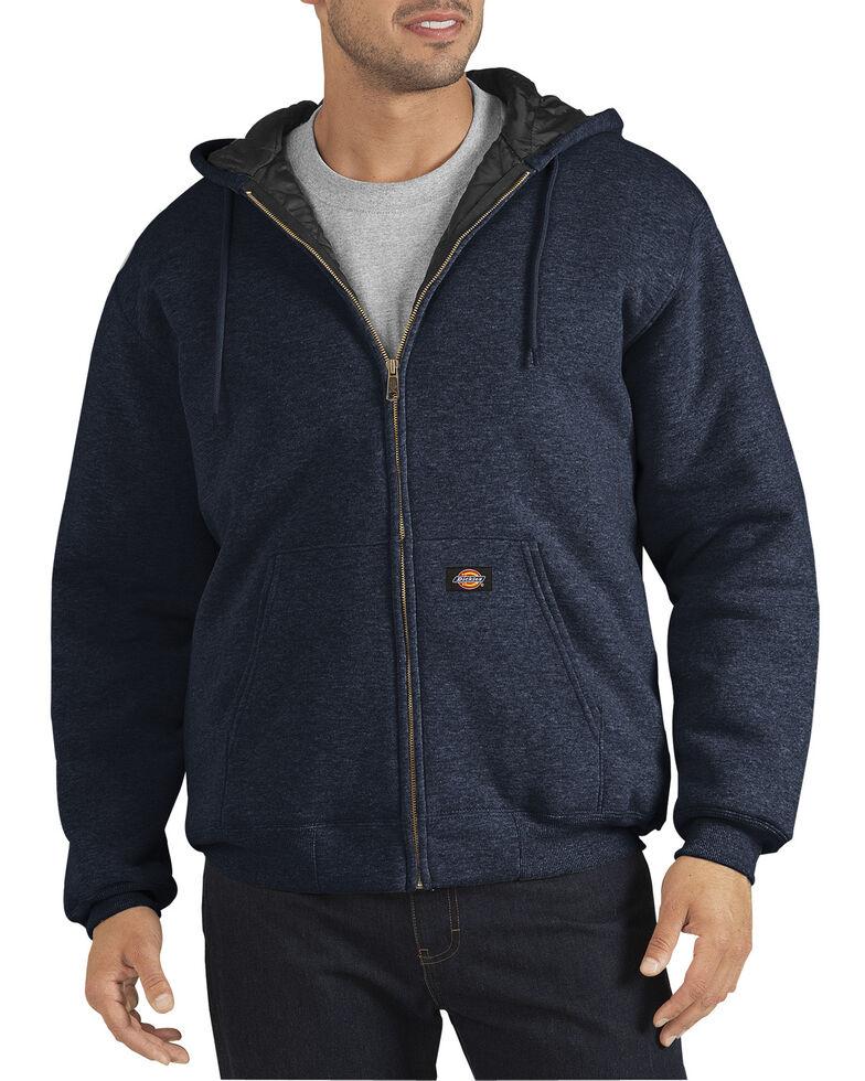 Dickies Heavyweight Quilted Fleece Zip-Up Hoodie, Navy, hi-res