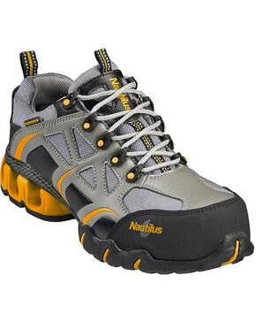 Nautilus Women's Waterproof EH Athletic Work Shoes - Composite Toe, Grey, hi-res