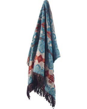 Carstens Turquoise Chamarro Throw Blanket, Turquoise, hi-res