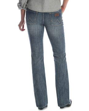 Wrangler Retro Women's Sadie Medium Blue Contour Waist Jeans - Boot Cut, Indigo, hi-res