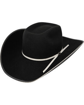 Resistol Men's Snake Eyes Wool Cowboy Hat, Black, hi-res