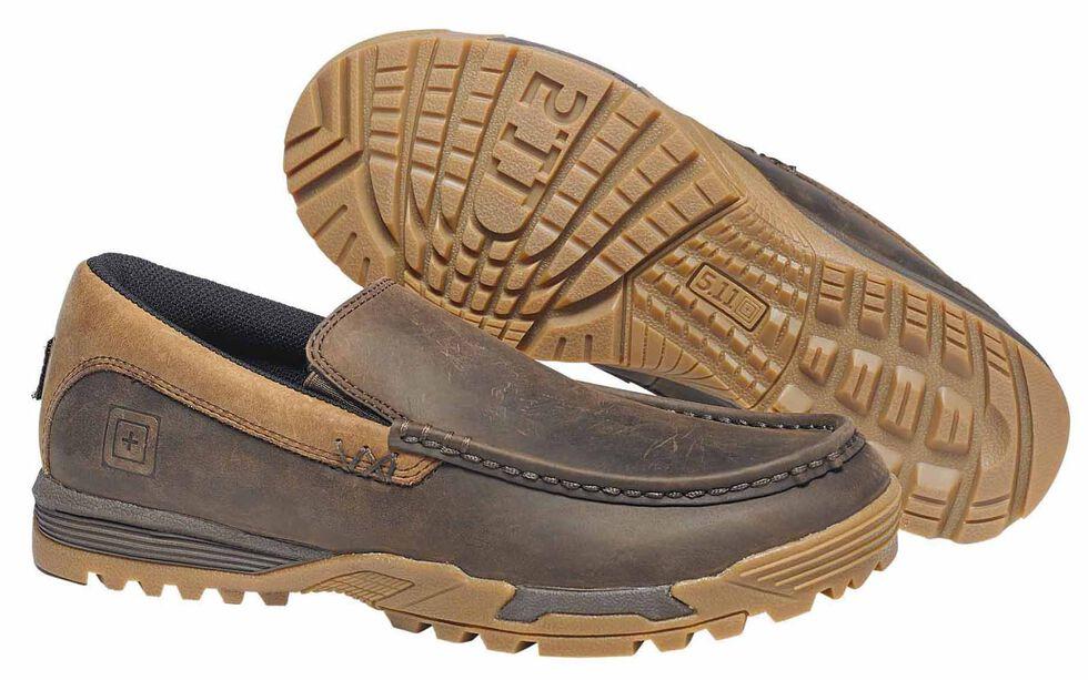 5.11 Tactical Men's Pursuit Slip-On Shoes, Dark Brown, hi-res