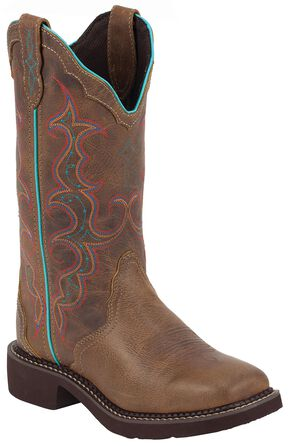 Justin Gypsy Women's Raya Tan Cowgirl Boots - Square Toe, Tan, hi-res