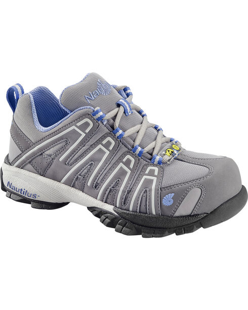 Nautilus Women's Blue Grey Lightweight SD Athletic Work Shoes - Soft Toe , , hi-res