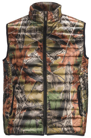 Trail Crest Men's Ultra Thurmic Silk Padded Camo Quilted Vest, Camouflage, hi-res