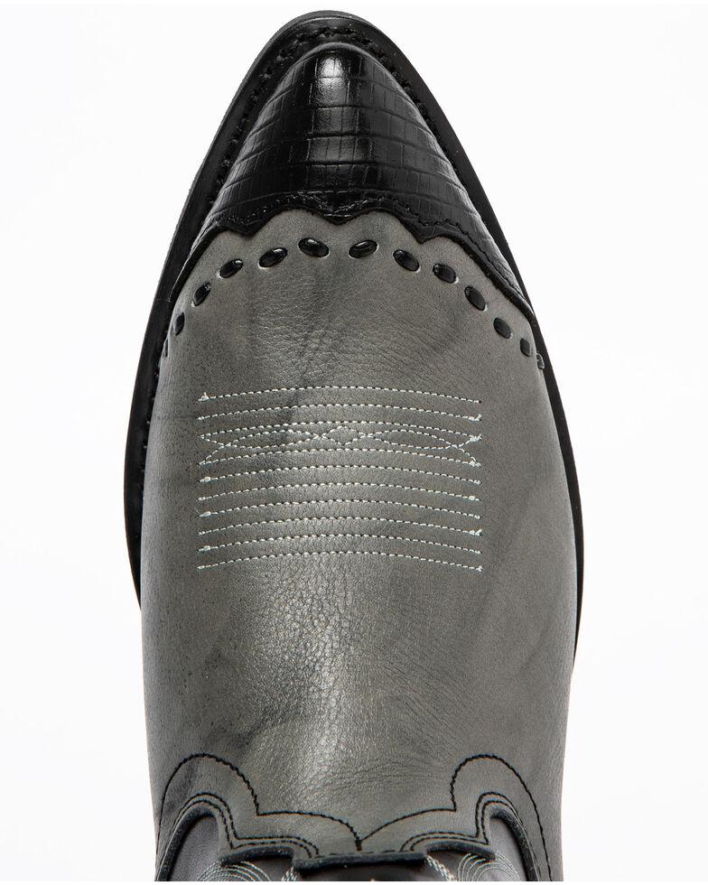 Laredo Men's Lizard Print Wingtip Cowboy Boots, Grey, hi-res