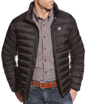Ariat Men's Jet Black Ideal Down Jacket , Black, hi-res