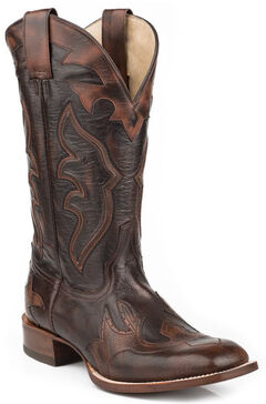 "Stetson Men's Ryder 11"" Boots - Square Toe, Dark Brown, hi-res"