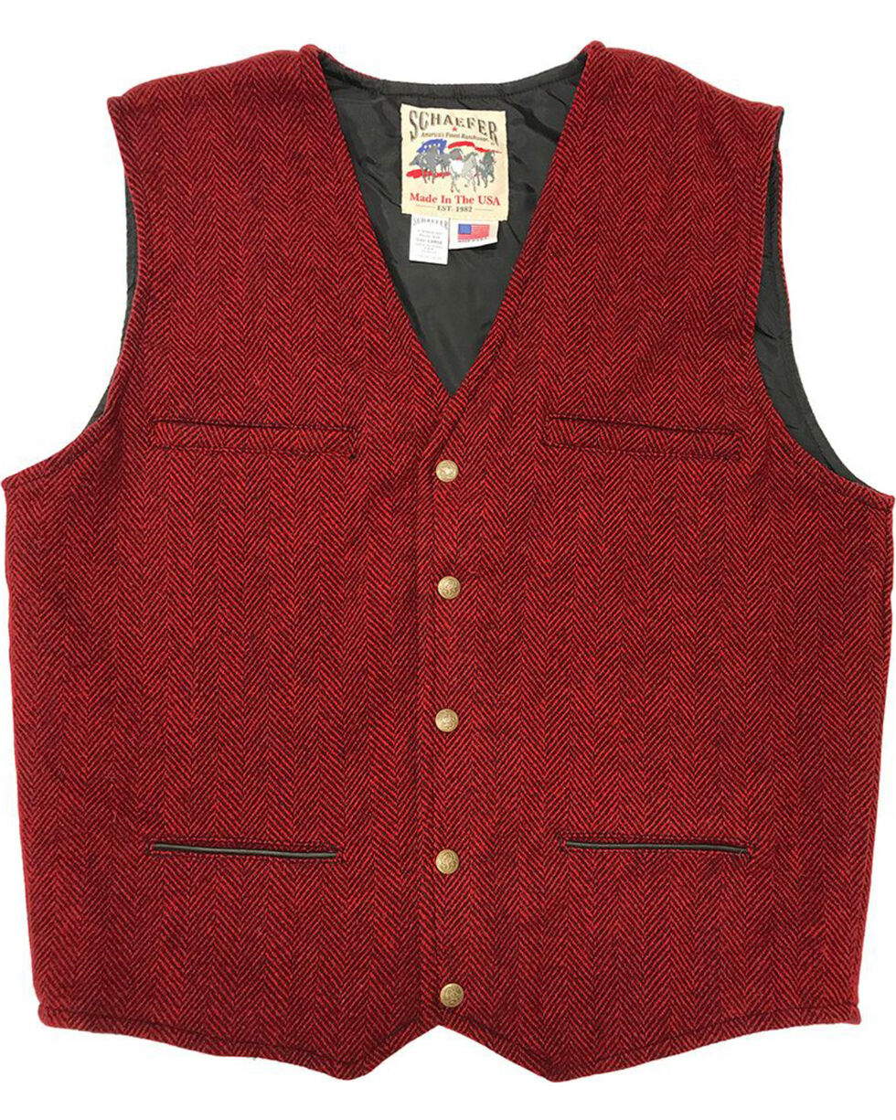 Schaefer Outfitter Men's Red Mckenzie Wool Vest - Big 3X, Red, hi-res