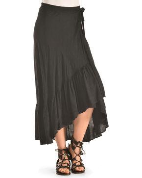 Polagram Women's Hi-Lo Wrap Skirt , Black, hi-res