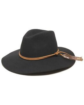 ále by Alessandra Kaci Boho Floppy Felt Hat, Black, hi-res