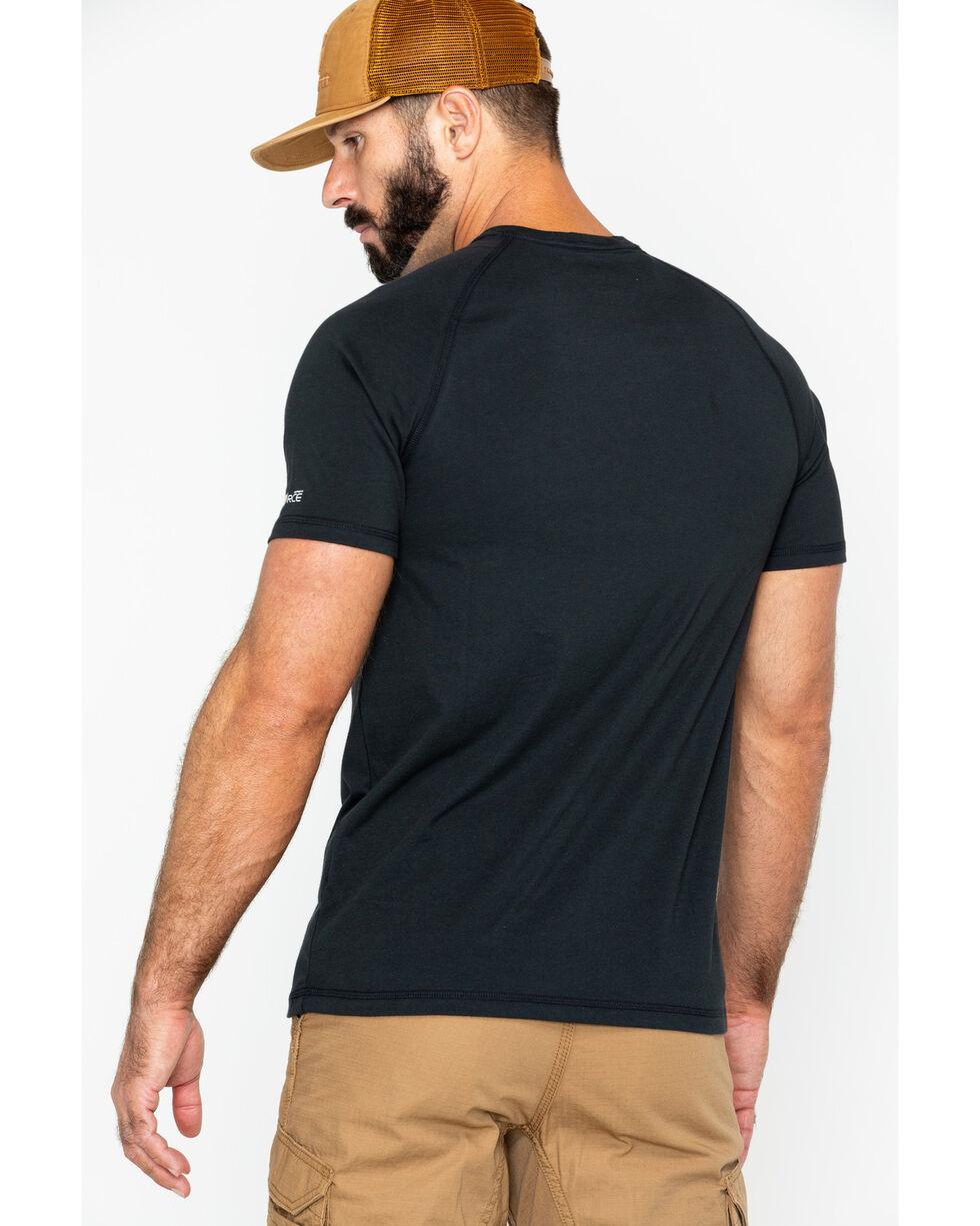 Carhartt Force Cotton Short Sleeve Work Shirt - Big & Tall, Black, hi-res