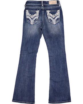 Grace in LA Girls' Taylor Medium Wash Jeans - Boot Cut, Blue, hi-res