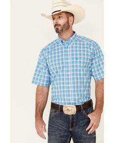 Ariat Men's Huxley Small Plaid Short Sleeve Western Shirt , Multi, hi-res
