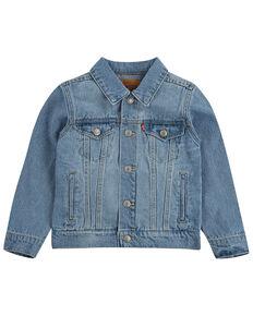 Levi's Boys' (4-7) Light Wash Denim Button-Down Trucker Jacket , Light Blue, hi-res