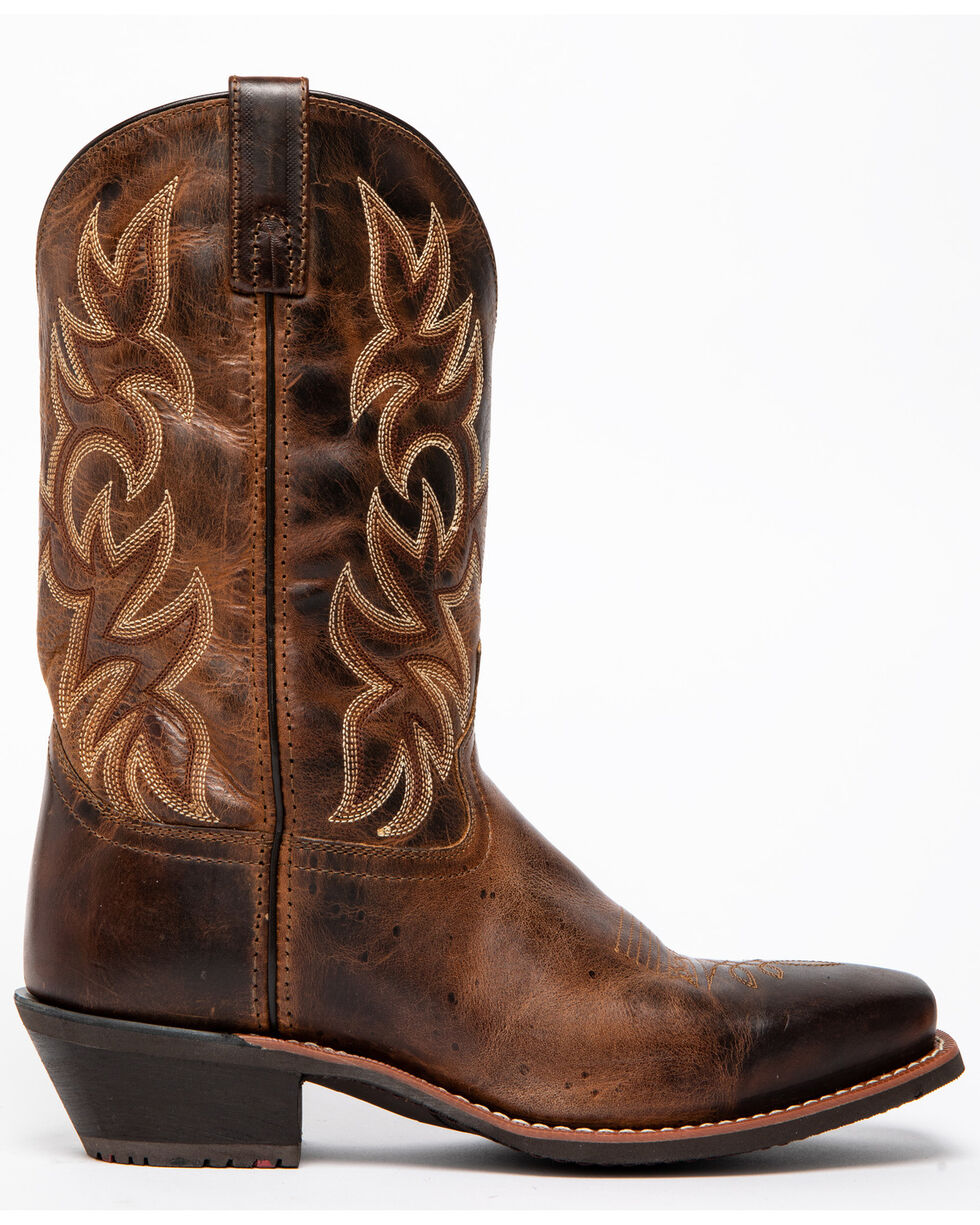Laredo Mens Breakout Western Cowboy Boots Leather Narrow Square Toe Rust Earth