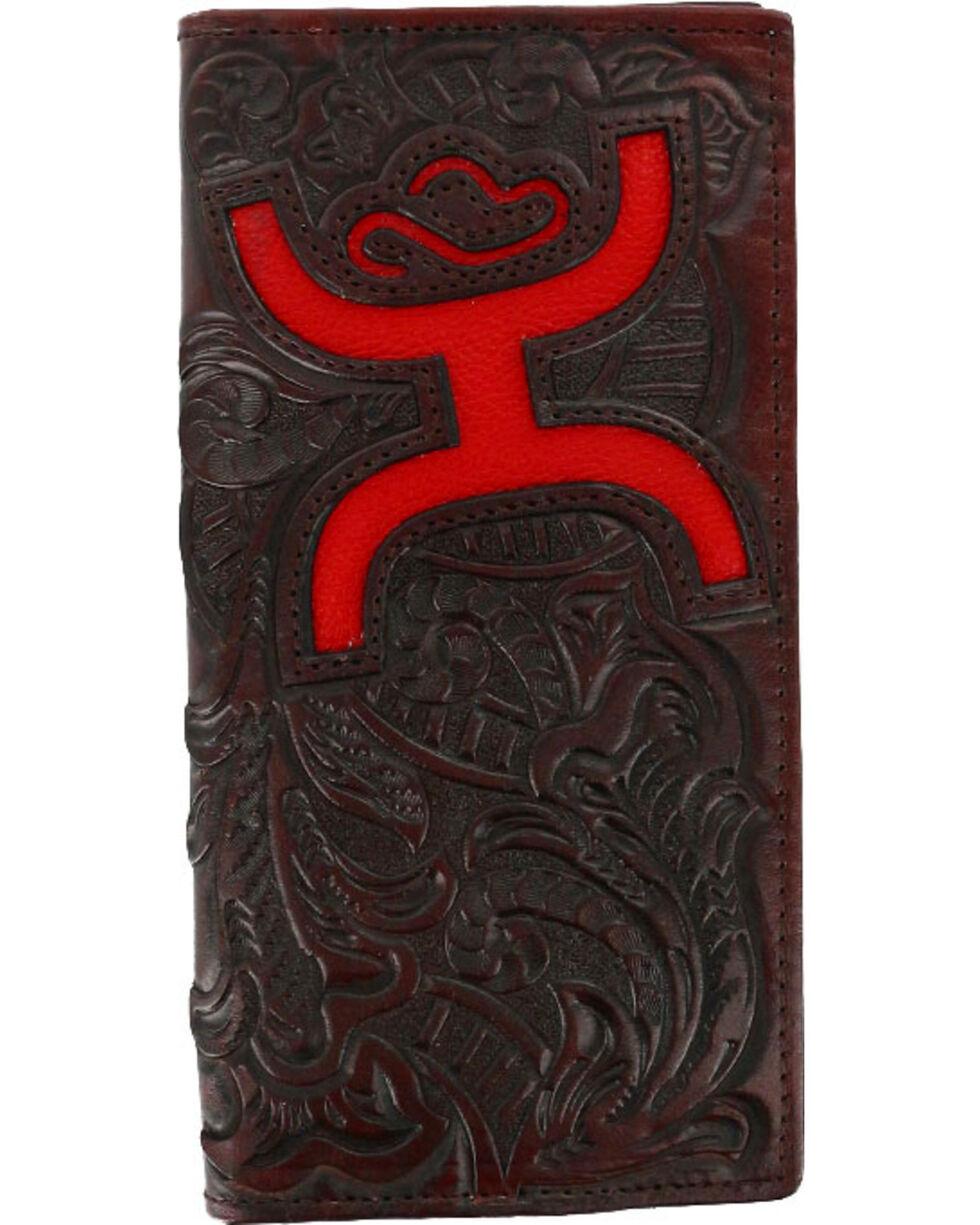 Hooey Men's Signature Tooled Bi-Fold Wallet, Brown, hi-res