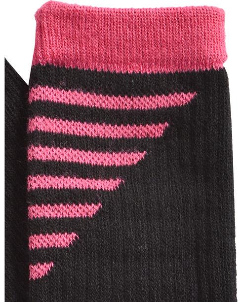 Shyanne Women's Pink & Black Performance Socks with COOLMAX, Black, hi-res
