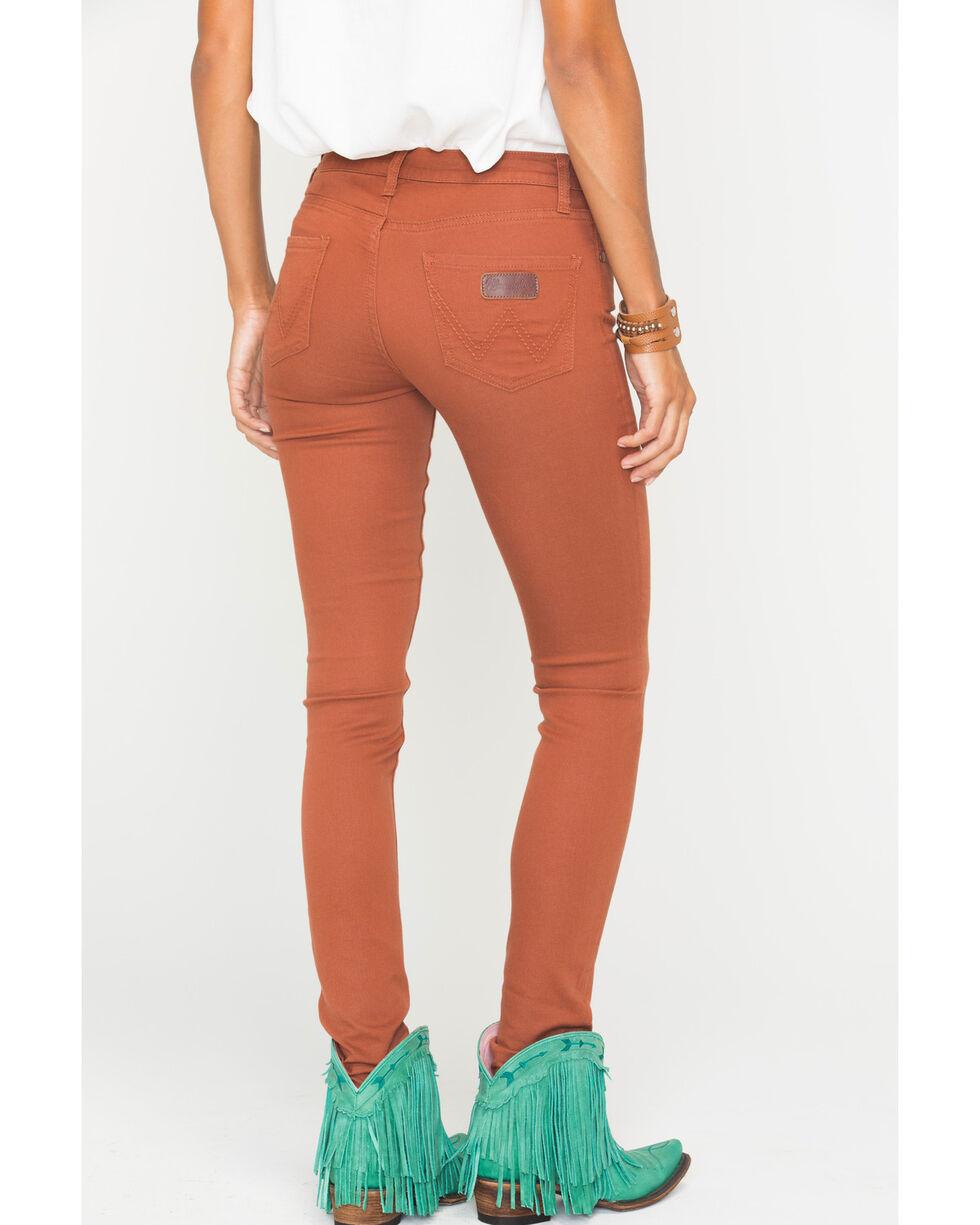 Wrangler Women's Retro Rust Skinny Jeans, Orange, hi-res