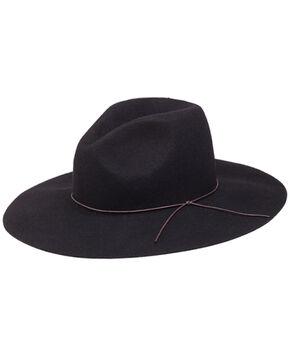 Peter Grimm Zima Flat Brim Hat, Black, hi-res