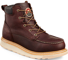 "Irish Setter by Red Wing Shoes Men's Ashby 6"" EH Waterproof Work Boots , Brown, hi-res"