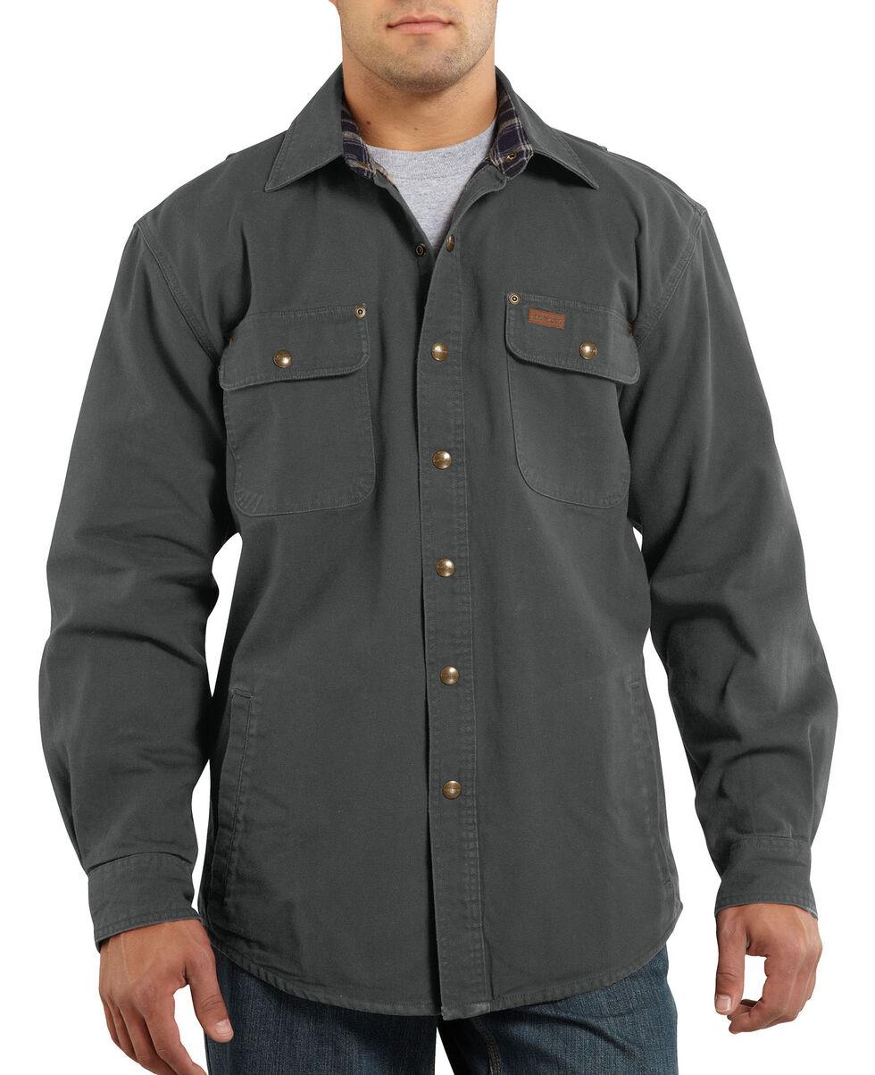 Carhartt Weathered Canvas Shirt Jacket, Grey, hi-res
