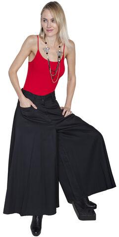 Scully Long Split Skirt, Black, hi-res