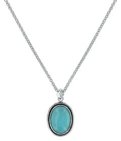 Montana Silversmiths Women's Misty Blue Pool Necklace , Turquoise, hi-res