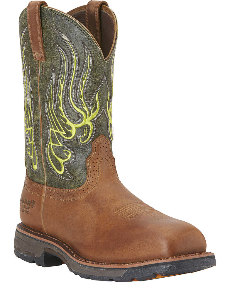 Ariat Men's Workhog Mesteno Waterproof Work Boots - Composite Toe, Rust, hi-res