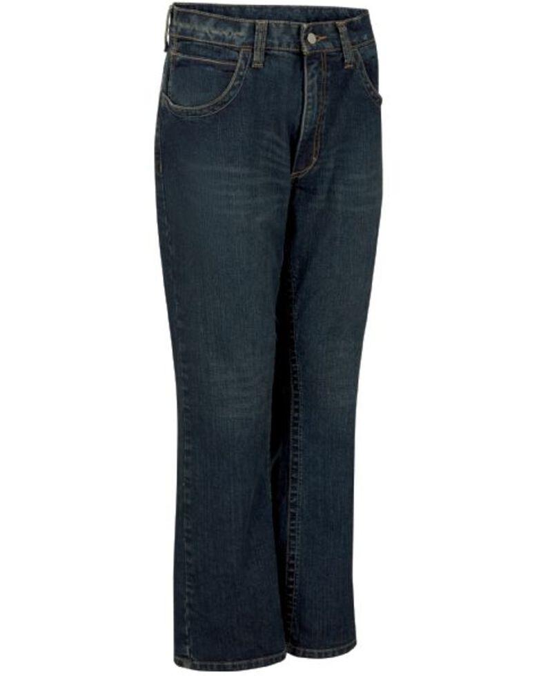 Bulwark Men's FR Relaxed Boot Work Jeans , Indigo, hi-res