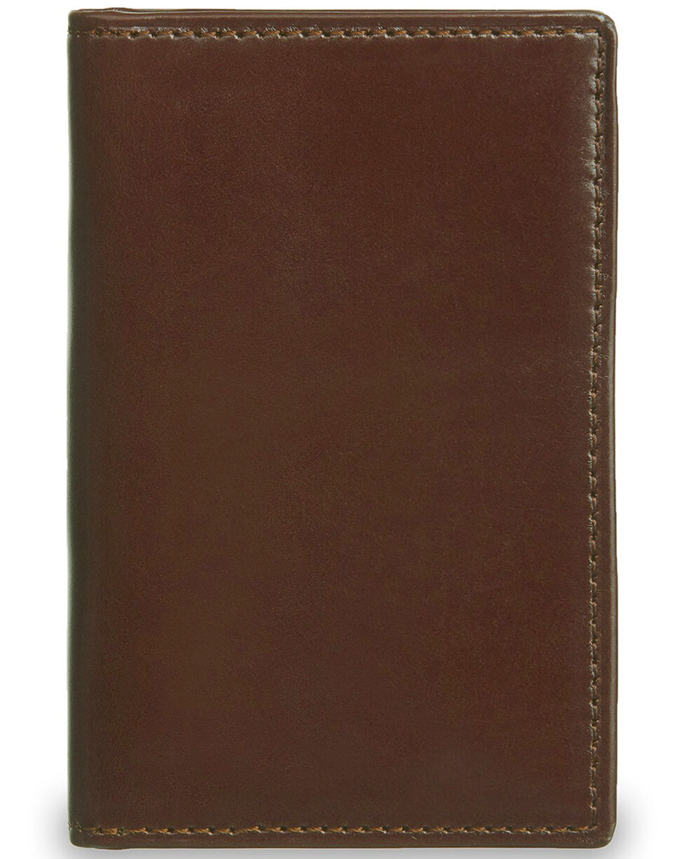 Lucchese Men's Sienna Leather Vertical Bi-Fold Wallet, Brown, hi-res