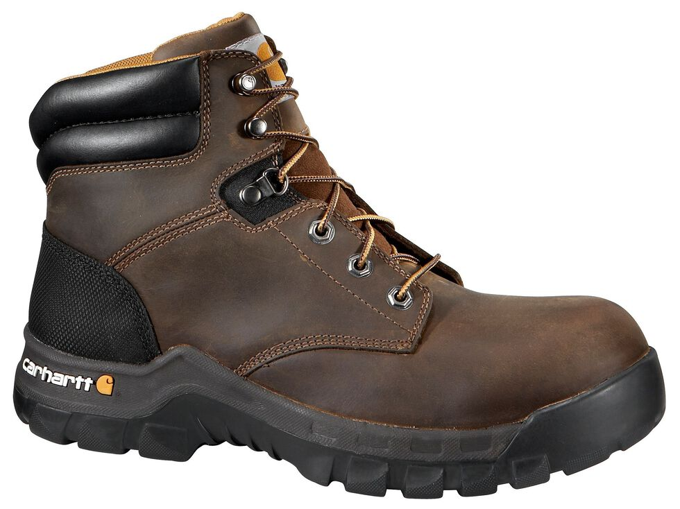 "Carhartt Work Flex 6"" Lace-Up Work Boots - Composite Toe, Brown, hi-res"