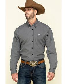 Cinch Men's Black Circle Geo Print Long Sleeve Western Shirt , Black, hi-res
