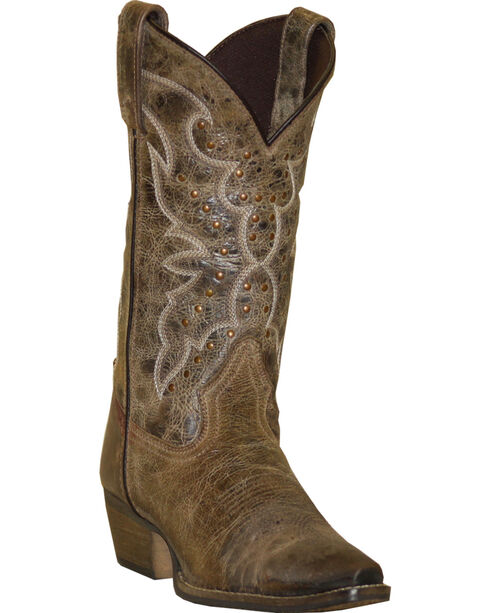 Rawhide by Abilene Boots Women's Nailhead Cowgirl Boots - Snip Toe, Earth, hi-res