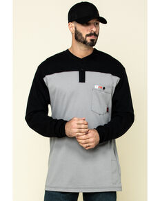 Cinch Men's FR Multi Solid Long Sleeve Work Shirt - Big, Multi, hi-res