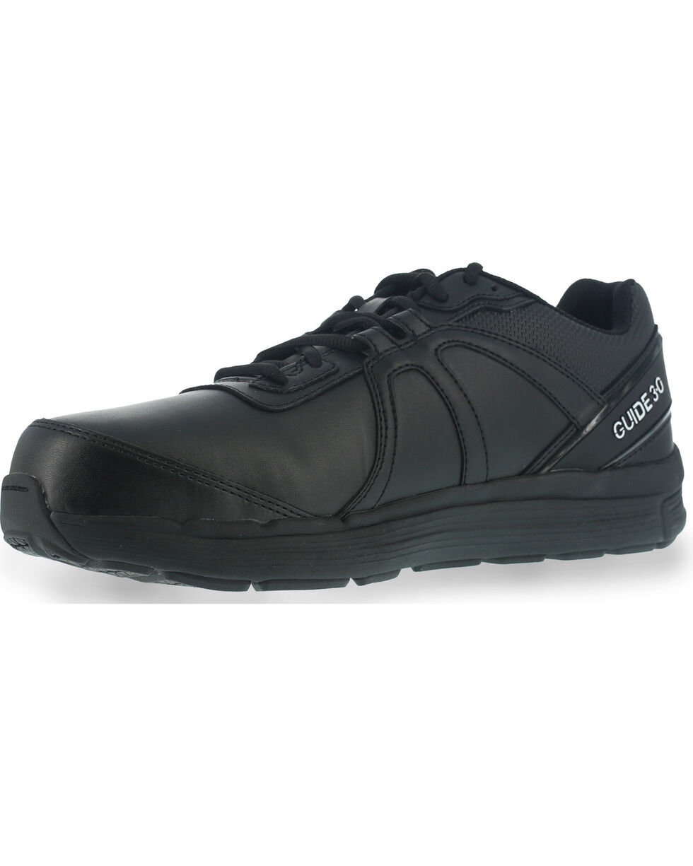 Reebok Men's Leather Athletic Oxfords - Steel Toe, Black, hi-res