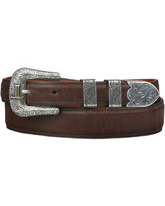 Lucchese Men's Tan Ranch Hand Leather Belt, Tan, hi-res