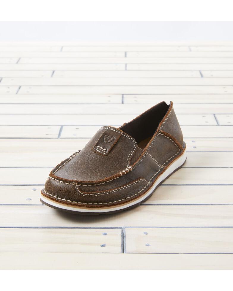 Ariat Women's Vintage Bomber Cruiser Shoes - Moc Toe, Brown, hi-res
