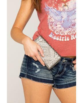 Shyanne Women's Metallic Bling Wallet , Ash, hi-res