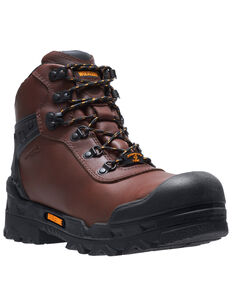 "Wolverine Men's Warrior Carbonmax 6"" Work Boots - Composite Toe, Brown, hi-res"