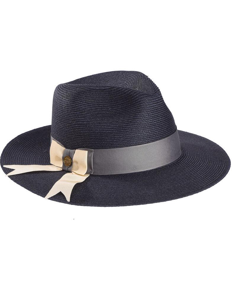 Stetson Women's Cat's Meow Hemp Braid Fedora Hat , Navy, hi-res