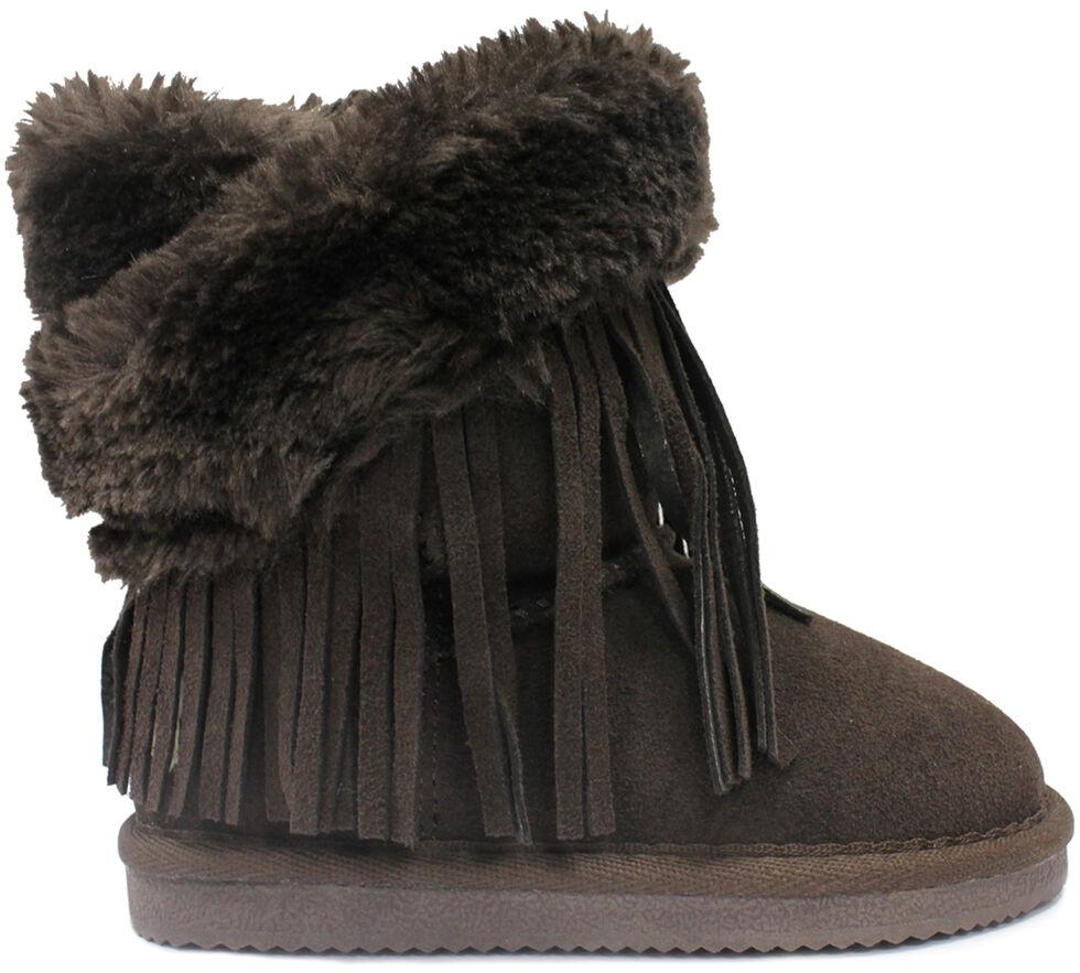 Lamo Footwear Kid's Fringe Wrap Boots - Round Toe, Chocolate, hi-res