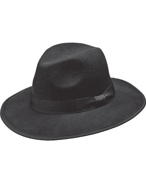 Peter Grimm Unisex Chaco Wool Felt Hat, Black, hi-res