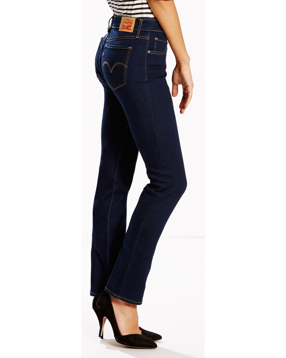 Levi's Women's 714 Cast Shadows Straight Leg Jean, Indigo, hi-res
