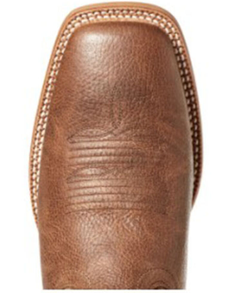 Ariat Men's Arena Record Western Boots - Wide Square Toe, Brown, hi-res