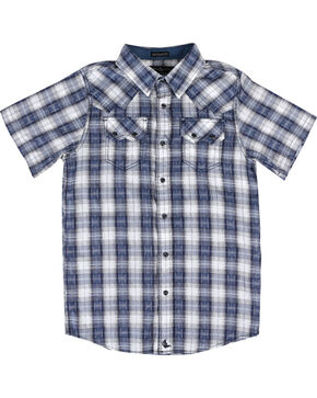 Cody James Boys' Rattler Short Sleeve Shirt, Navy, hi-res