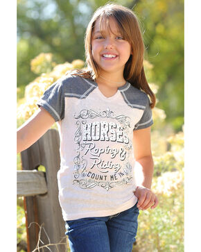 Cruel Girl Girls' Horses, Roping, & Riding Short Sleeve T-Shirt , Pink, hi-res