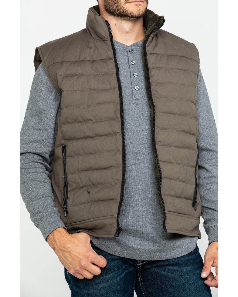 Resistol Men's Will Canvas Zip-Up Vest , Dark Green, hi-res