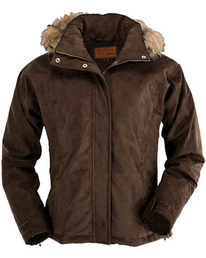 Outback Trading Co. Gold Cup Hooded Jacket, Brown, hi-res